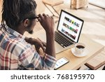 african american man using... | Shutterstock . vector #768195970