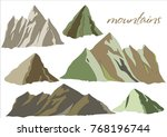 picturesque mountains. rocky... | Shutterstock .eps vector #768196744
