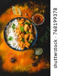 indian butter chicken with... | Shutterstock . vector #768199378