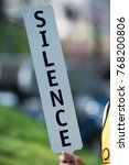 silence icon quiet | Shutterstock . vector #768200806