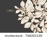 modern template. tropic design. ... | Shutterstock .eps vector #768201130