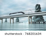 the train moving on the... | Shutterstock . vector #768201634