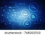 2d illustration technology... | Shutterstock . vector #768202510