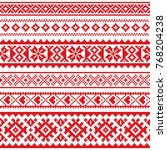 sami vector seamless pattern ... | Shutterstock .eps vector #768204238
