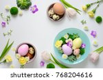 easter greeting floral... | Shutterstock . vector #768204616