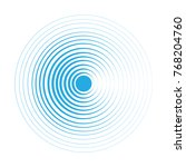blue water rings. sound circle... | Shutterstock .eps vector #768204760