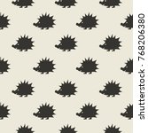 kids seamless pattern with... | Shutterstock .eps vector #768206380