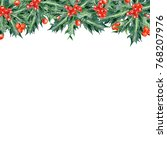 colored pencils christmas... | Shutterstock . vector #768207976