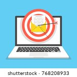 laptop with email letter and... | Shutterstock .eps vector #768208933