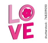 happy valentines day card with... | Shutterstock .eps vector #768209050