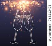 celebratory glasses background   Shutterstock .eps vector #768213478
