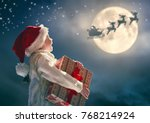 merry christmas  cute little... | Shutterstock . vector #768214924