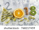 healthy holidays food and diet. ... | Shutterstock . vector #768217459