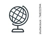 illustration world icon  globe... | Shutterstock .eps vector #768222544