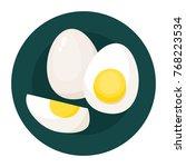 vector set of boiled eggs... | Shutterstock .eps vector #768223534