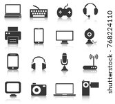 set of electronics icons ... | Shutterstock .eps vector #768224110