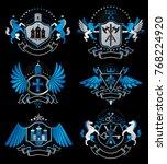 set of luxury heraldic vector... | Shutterstock .eps vector #768224920
