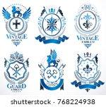 set of luxury heraldic vector... | Shutterstock .eps vector #768224938