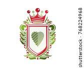 vintage heraldic coat of arms... | Shutterstock .eps vector #768224968