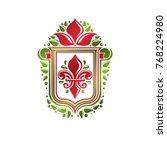 vintage heraldic emblem created ... | Shutterstock .eps vector #768224980