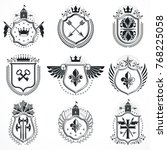 vector emblems  vintage...   Shutterstock .eps vector #768225058