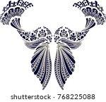 beautiful folk art  | Shutterstock .eps vector #768225088