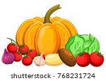 illustration of vegetables... | Shutterstock .eps vector #768231724