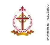 christian cross decorative... | Shutterstock .eps vector #768238570