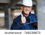 senior construction manager... | Shutterstock . vector #768238873