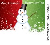 abstract christmas background...   Shutterstock .eps vector #768239560