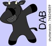 dab dabbing pose bull kid... | Shutterstock .eps vector #768240859