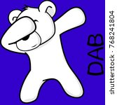 dab dabbing pose polar bear kid