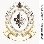 vintage heraldry design... | Shutterstock .eps vector #768241978