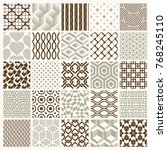 set of vector endless geometric ... | Shutterstock .eps vector #768245110