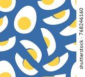 hand drawn seamless pattern... | Shutterstock .eps vector #768246160