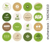 organic natural label and tag... | Shutterstock .eps vector #768246310
