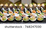 catering food mini canape | Shutterstock . vector #768247030