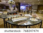 catering food mini canape | Shutterstock . vector #768247474