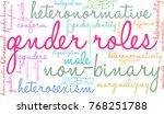 gender roles word cloud on a... | Shutterstock .eps vector #768251788