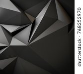 abstract low triangular polygon ...   Shutterstock . vector #768252970