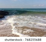 seascape with a traditionnal ... | Shutterstock . vector #768255688