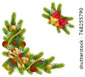 vector fir corner with... | Shutterstock .eps vector #768255790