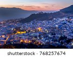 chefchaouen  blue city of... | Shutterstock . vector #768257674