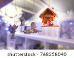 toy house. christmas eve....   Shutterstock . vector #768258040