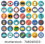set of miscellaneous modern... | Shutterstock .eps vector #768260323