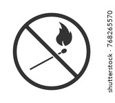 forbidden sign with burning...
