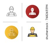 builder icon. flat design ... | Shutterstock .eps vector #768265594