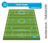 football  soccer  formation... | Shutterstock .eps vector #768266200