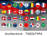 badges set of national flag for ... | Shutterstock .eps vector #768267496