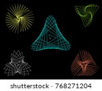 abstract geometric shapes of... | Shutterstock .eps vector #768271204